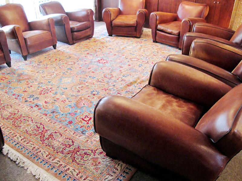 ペルシャ絨毯の敷き方